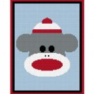Baby Sock Monkey Afghan Crochet Pattern Graph 100st