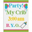 Baby Party My Crib Afghan Crochet Pattern Graph 100st