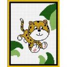 Baby Cheetah Jungle Afghan Crochet Pattern Graph 100st