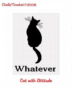 Cat Silhouette Whatever Afghan Crochet Pattern Graph