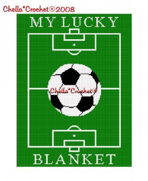 My Lucky Soccer Blanket Afghan Crochet Pattern Graph