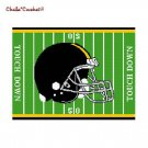 Football Helmet Black Gold Afghan Crochet Pattern Graph