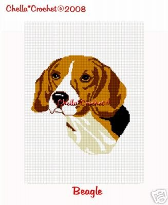 Beagle Dog Afghan Crochet Pattern Graph