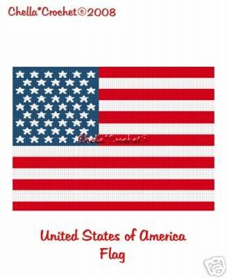 american flag coordinate graph