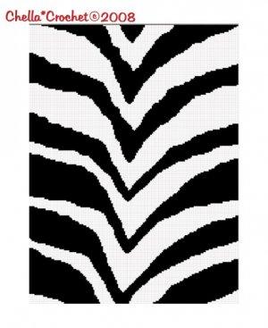 Zebra Animal Print Stripes Afghan Crochet Pattern Graph