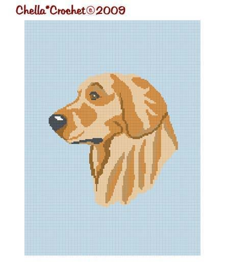Golden Retriever Dog  Afghan Crochet Pattern