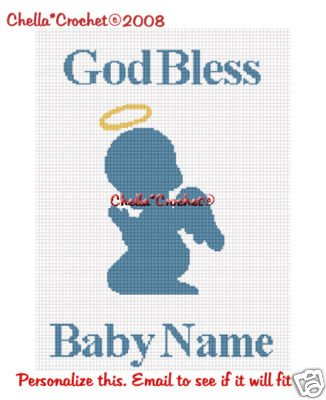Personalize Baby Angel Afghan Crochet Pattern