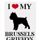 Brussels Griffon Silhouette #1 Afghan Crochet Pattern