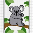 Koala Bear in the Jungle Afghan Crochet Pattern Graph