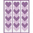 Purple Linked Hearts Afghan Crochet Pattern Graph 100st