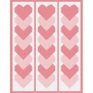 Pink Linked Hearts Afghan Crochet Pattern Graph 100st