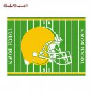 Football Helmet Green Yellow Afghan Crochet Pattern