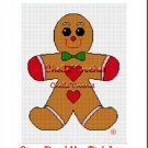 Christmas Gingerbread Man  Afghan Crochet Pattern Graph