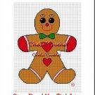Christmas Gingerbread Man  Afghan Crochet Pattern Graph
