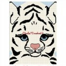 White Tiger Baby Siberian Afghan Crochet Pattern Graph