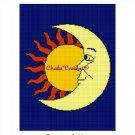 Sun Moon Celestial  Afghan Crochet Pattern Graph