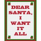 Christmas I Want It All Afghan Crochet Pattern Graph