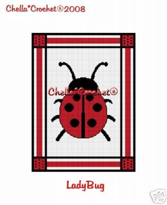 LadyBug Lady Bug  Afghan Crochet Pattern Graph