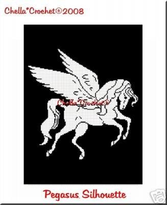 Pegasus Silhouette Afghan Crochet Pattern Graph