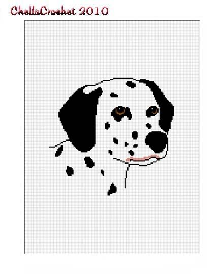 Dalmatian Dog Afghan Crochet Pattern Graph