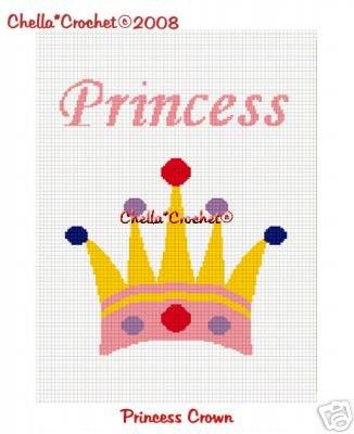 Princess Crown Afghan Crochet Pattern Graph