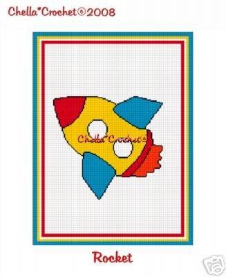 Rocket Ship Space Afghan Crochet Pattern Graph