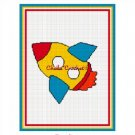Rocket Ship Space Afghan Crochet Pattern Graph