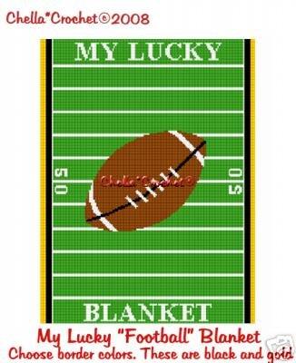 My Lucky Football Blanket Afghan Crochet Pattern Graph