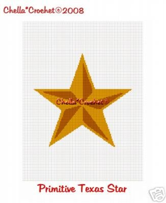 Primitive Texas Star Afghan Crochet Pattern Graph