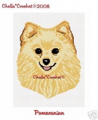 Pomeranian Pom Dog Afghan Crochet Pattern Graph