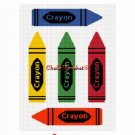 Crayons Colors Afghan Crochet Pattern Graph