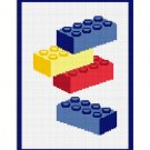 Building Blocks Chella Crochet Pattern Graph Chart. Afghan .PDF 100st