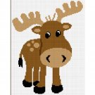 Too Cute Baby Moose Afghan Crochet Pattern Graph EASY