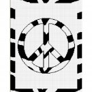 Chella Crochet Zebra Animal Print Peace Sign Crochet Pattern Graph