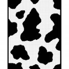 Chella Crochet Cow Hide Print Black White Afghan Crochet Pattern Graph