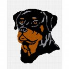 Chella Crochet Rottie Rottweiler Dog Afghan Crochet Pattern Graph .PDF