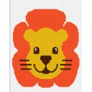 Chella Crochet Baby Jungle Safari Lion Full Face Afghan Crochet Pattern Graph