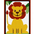 Chella Crochet Safari Baby Lion Sitting in Jungle Crochet Afghan Pattern Graph