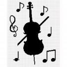 Chella Crochet Cello Musical Notes Music Crochet Afghan Pattern Graph