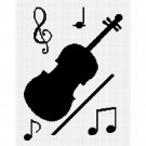 Chella Crochet Violin Musical Notes Music Crochet Afghan Pattern Graph