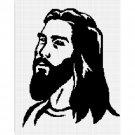 Jesus Christ Face Silhouette Christian Afghan Crochet Pattern Graph