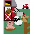 Farm Animals #2 Bull Horse Afghan Crochet Pattern Graph