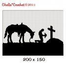 Buy 2 get 1 free Cowboy Praying Horse Cross Afghan Crochet Pattern Graph