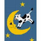 The Cow Jumped Over the Moon small 100 st  Afghan Crochet Pattern