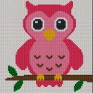 Easy Too Cute Pink Baby Owl Crochet Knit Cross Stitch Afghan Pattern Graph