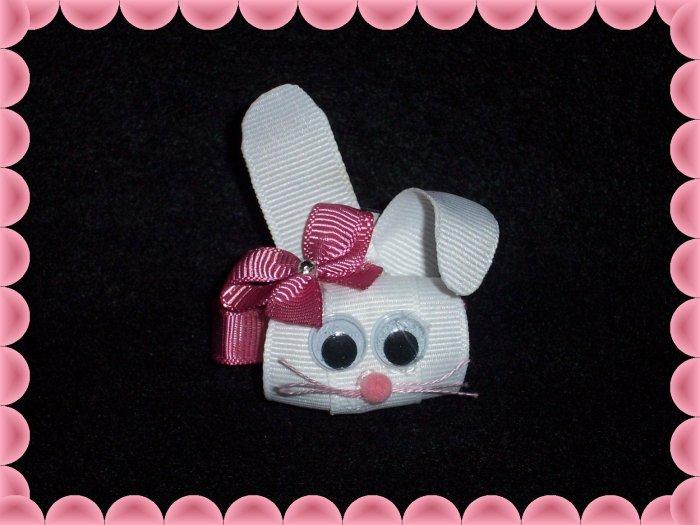 Easter Bunny Hair Bow Clippie ...