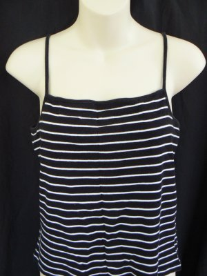The Limited tank top black and white striped