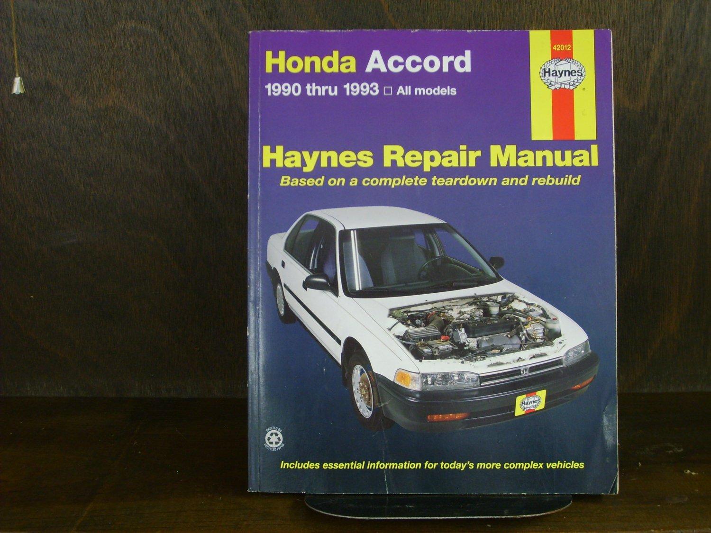 Honda Accord '90 - '93 All Models Haynes Manual Paperback