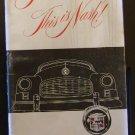 1949 Nash Ambassador Owners - Glove Box Manual