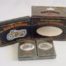 Harley Davidson Motorcycles Limited Edition Collectible Tin and Playing Cards c 1997